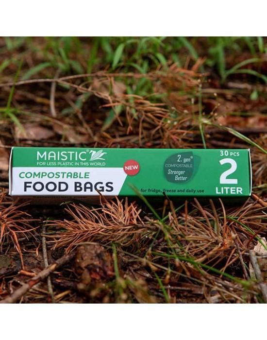 Maistic - 2 GEN Биоразградими/Компостируеми торби за храна 2 л./30 бр.