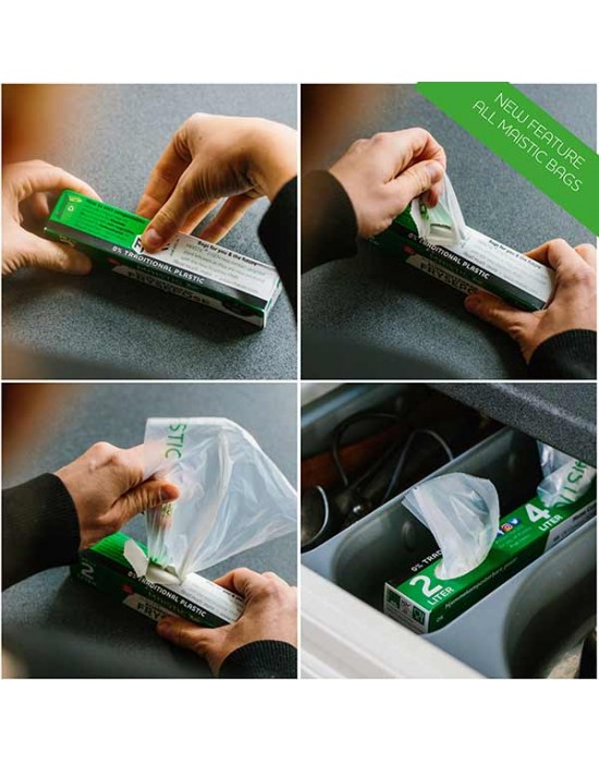 Maistic - 2 GEN Биоразградими/Компостируеми торби за боклук 30 л./10 бр.