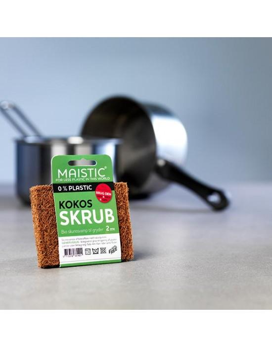 Maistic - PlasticFree Био кокосова твърда домакинска гъба - 2бр.