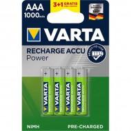 Акумулаторни батерии Varta Accu Power - 1000 mAh ААА R2U 3+1 броя