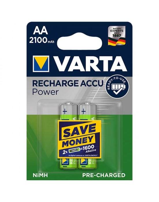 Акумулаторни батерии Varta Accu Power - 2100 mAh АА R2U 2 броя