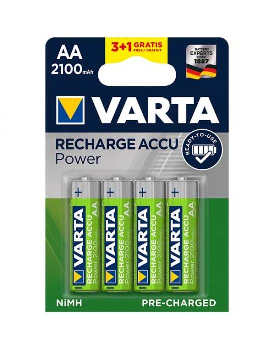 Акумулаторни батерии Varta Accu Power - 2100 mAh АА R2U 3+1 броя