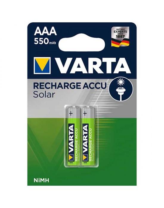 Акумулаторни батерии Varta Solar Accu Power - 550 mAh ААА 2 броя
