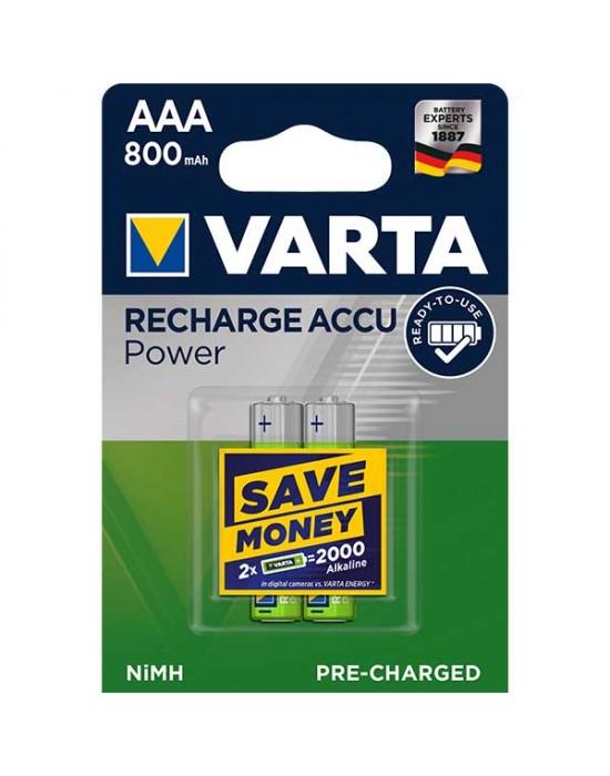 Акумулаторни батерии Varta Accu Power - 800 mAh ААА R2U 2 броя