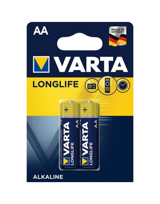 Алкални батерии Varta Longlife - АА 2 броя