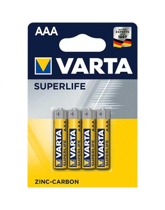 Цинкови батерии Varta Superlife блистер - ААА 4 броя