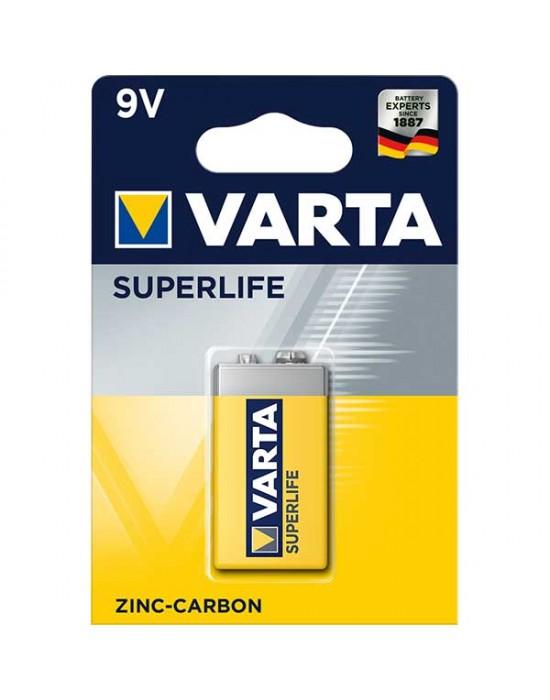 Цинкови батерии Varta Superlife блистер - 9V 1 брой
