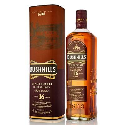 Bushmills 16 Year Old Single Malt Irish Whiskey 70cl - УИСКИ БУШМИЛС МАЛТ 16YO - 0.70Л
