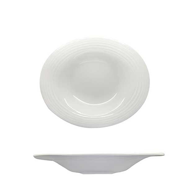 Creme Wide Rim Plate Ø29cm