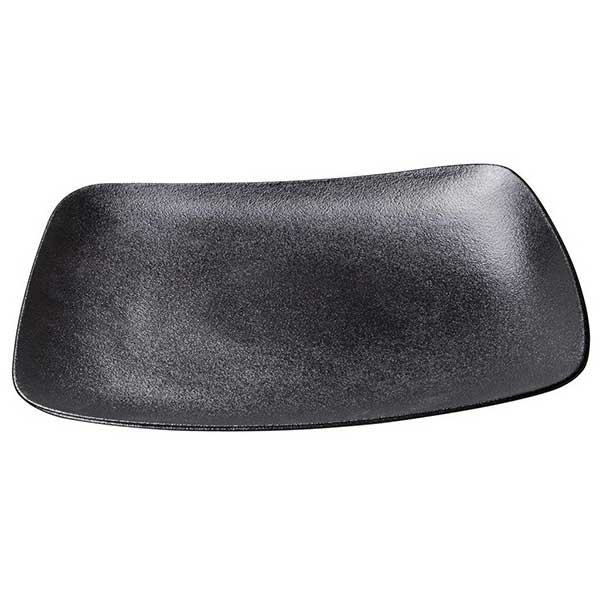 Black Dazzle Vital Coupe Square plate Ø25cm