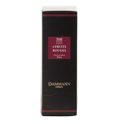 Dammann - Черен овкусен чай – 4 Червени плода – 24 сашета