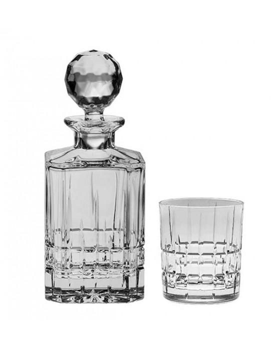 Dover Set - Bottle + 6 glasses 320 ml - Crystal Bohemia