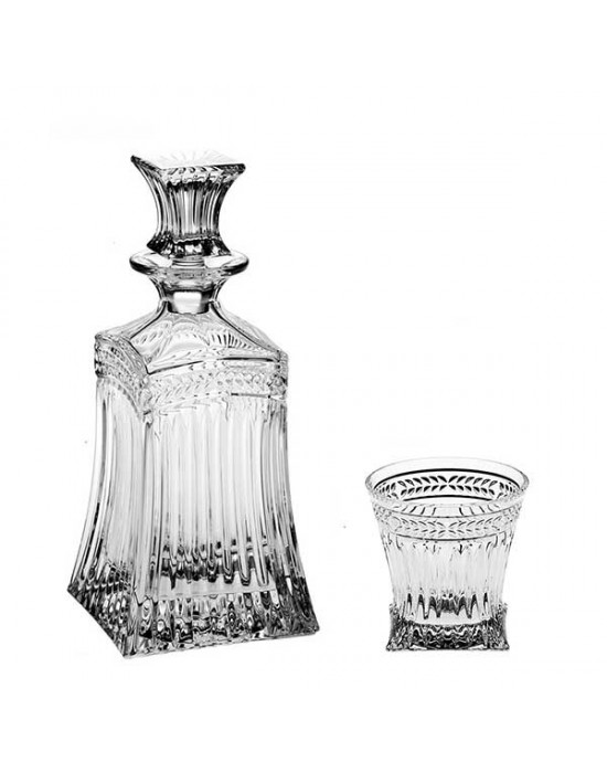 Imperial Set - Bottle + 6 glasses 240 ml - Crystal Bohemia