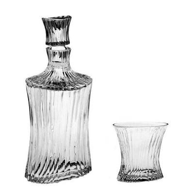 Orcan Set - Bottle + 6 glasses 250 ml - Crystal Bohemia