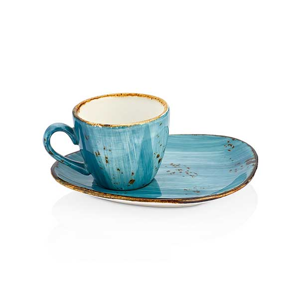 Set of coffee cup and saucer - 75 ml, 14x11 - Infinity