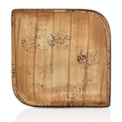 Квадратна чиния - 38 cm - Vintage