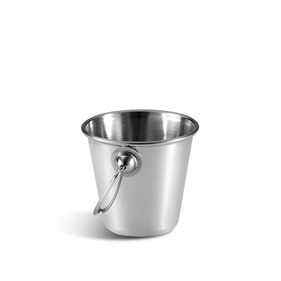 Metal serving bucket with handles 9 cm