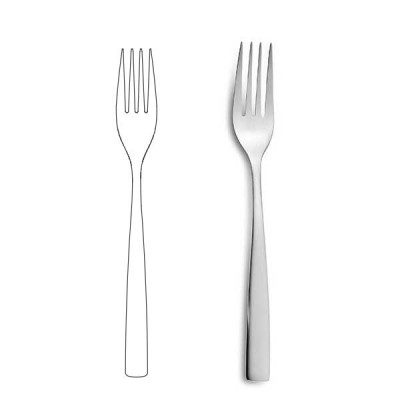 Вилица за основно ястие - BCN Silver