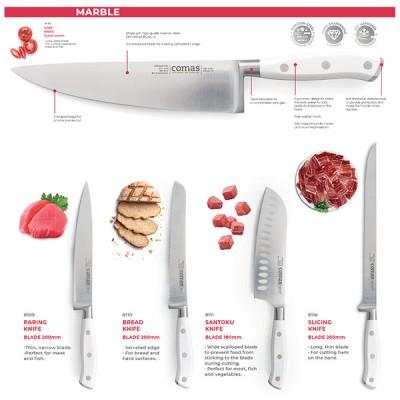 Кухненски нож универсален - 20 cm - Marble Chef knife