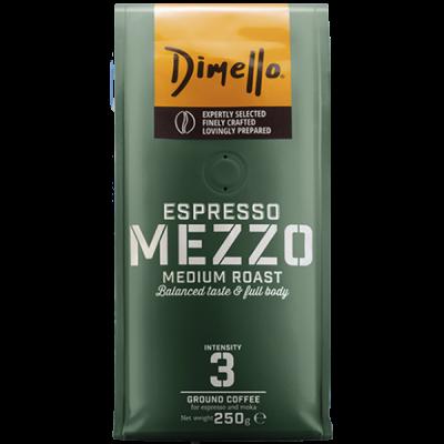 Dimello - Еспресо, мляно кафе Mezzo - 250 грама
