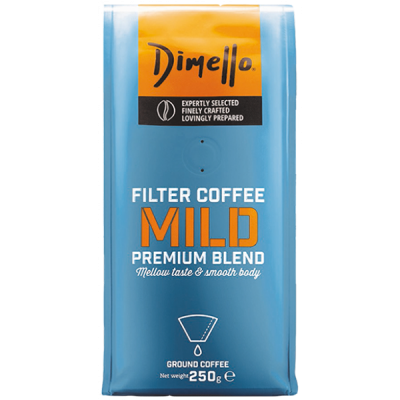 Dimello - Мляно кафе, Филтърно кафе Mild - 250 грама