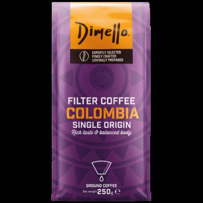 Dimello - Мляно кафе, Филтърно кафе Colombia - 250 грама