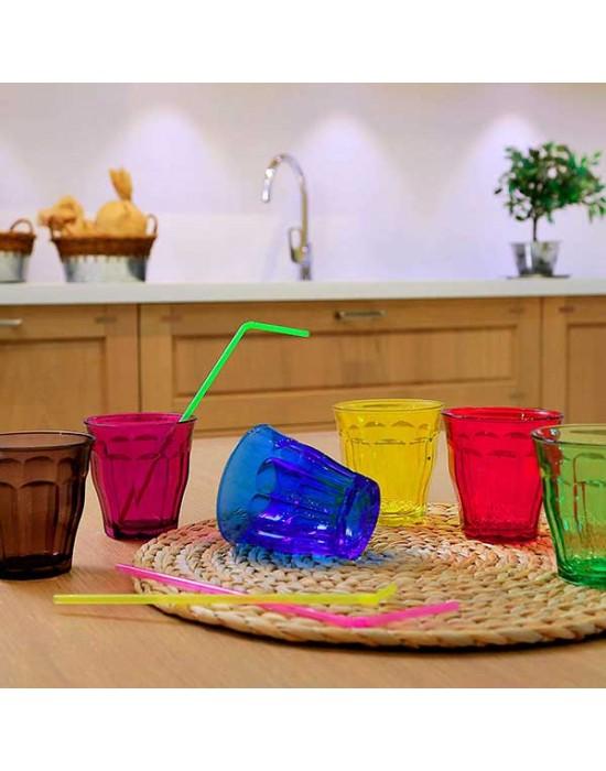Picardie tumbler 250 ml - 6 броя цветни - stackable - алкохол - Duralex