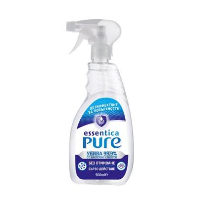 Дезинфектант за повърхности Essentica Pure с тригер 500 мл.