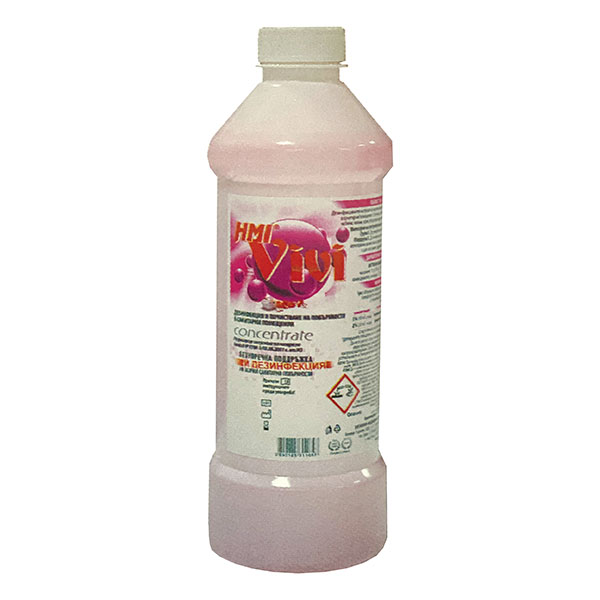HMI VIVI 7 Дезинфекция и почистване на повърхности в санитарни помещения 1 л.
