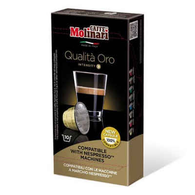 Кафе Molinari капсули Оро съвместими с Nespresso машини - 10 броя