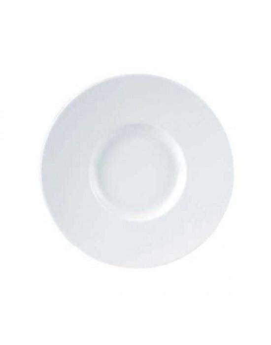 Porcelite wide rim gourmet plate 29cm