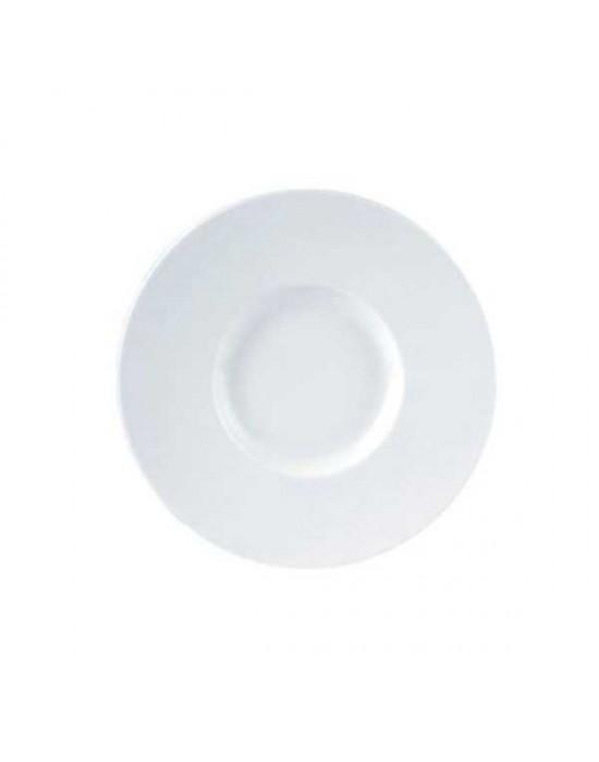 Porcelite wide rim gourmet plate 23cm