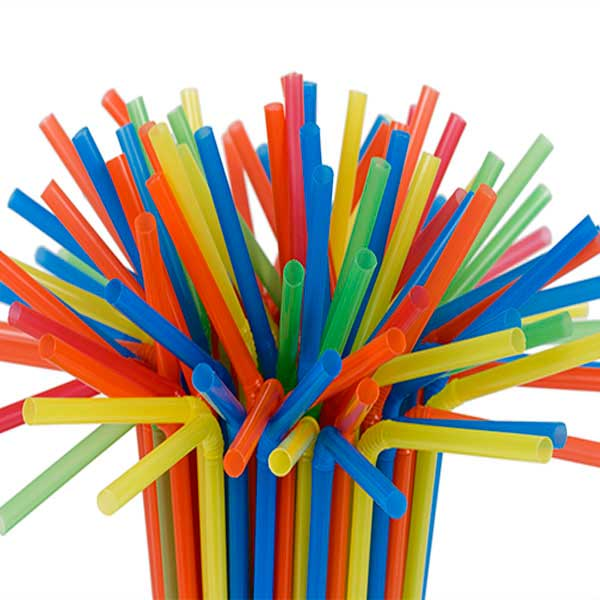 Flexible thin straws - GREEN 1000 pieces