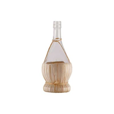 Chianti Glass Bottle with straw basket 500 ml - The Bars