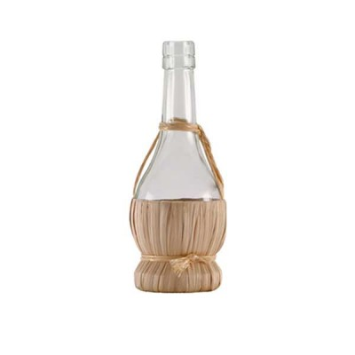 Chianti Glass Bottle with straw basket 375 ml - The Bars
