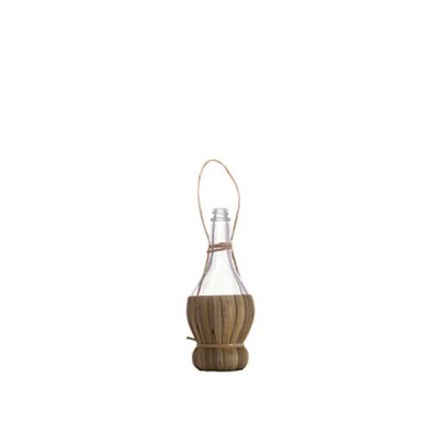 Chianti Glass Bottle with straw basket 100 ml - The Bars