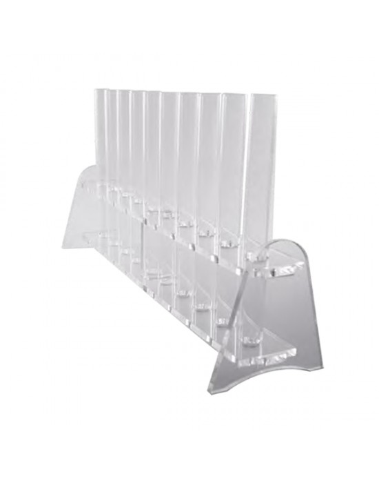 Поставка за епруветки прозрачна 10 места - The Bars