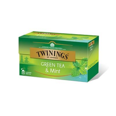 TWININGS - ЗЕЛЕН ЧАЙ с МЕНТА - зелен чай
