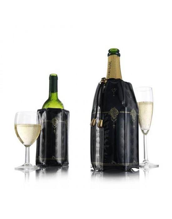VacuVin охладител за вино и шампанско 2-ка Черен