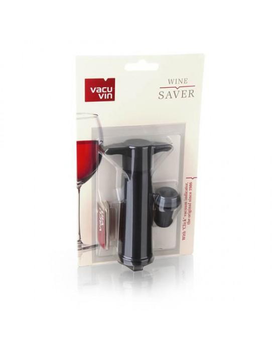 VacuVin помпа за вакуум +1 тапа Saver black
