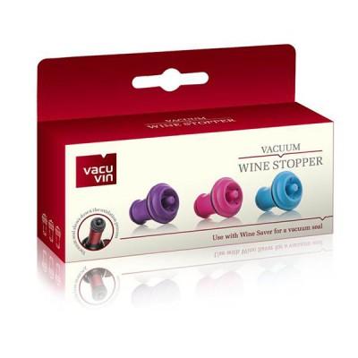 VacuVin вакуумни тапи за вино 3 бр Color