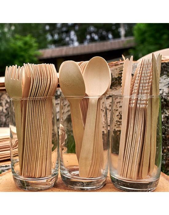 Дървени бъркалки 180 мм - 500 бр., ECO, за еднократна употреба