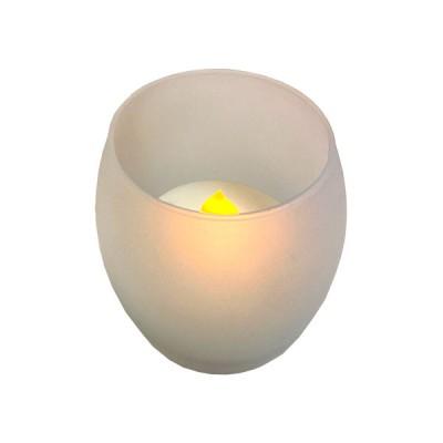 LED свещ стъкло - овал SDSEL