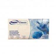 Винилни ръкавици ( M ) - сини - 100 бр