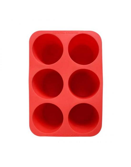 Форма за лед цилиндър червена - Cocktail Kingdom