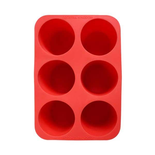 Форма за лед цилиндър червена