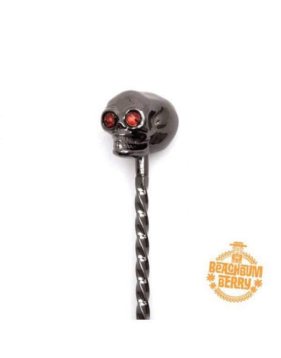 Барова лъжица Череп черно 33cm - Cocktail Kingdom