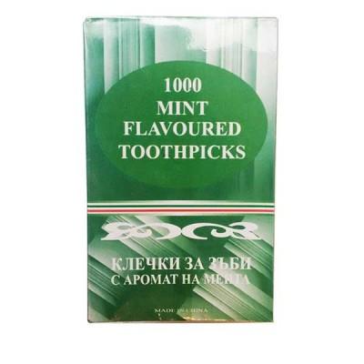 Клечки за зъби - ментов връх 1000 бр