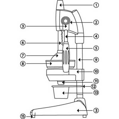 Juicer Maskot Metalic