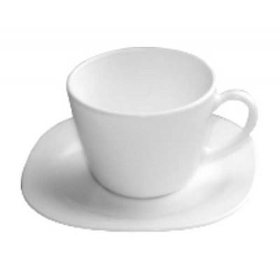 Porcelain Cup with dish Toledo 220ml - Bormioli Rocco